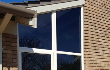 UPVC double glazed pitched window