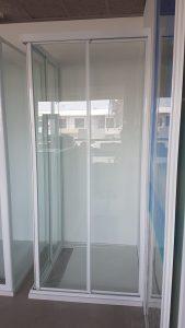 corner entry framed shower