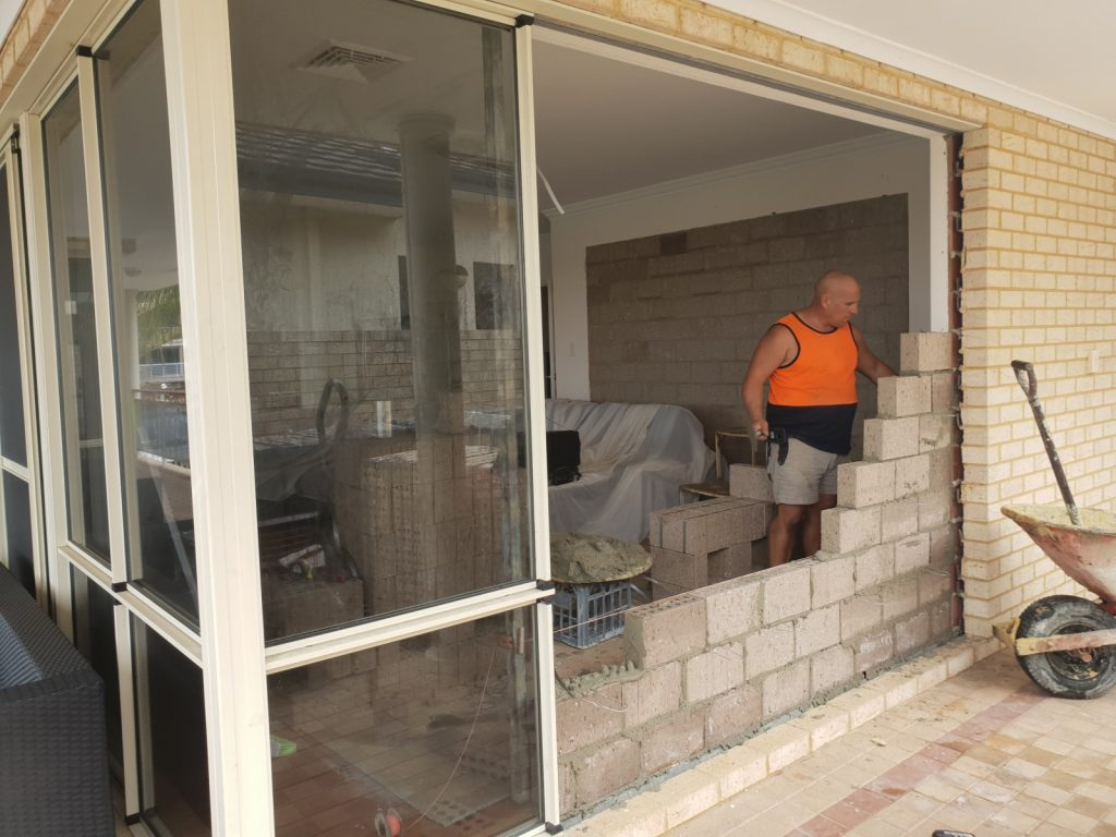 external window installation and wall removal