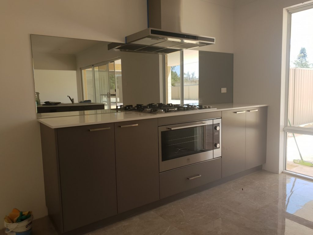 kitchen glass mirror splashback
