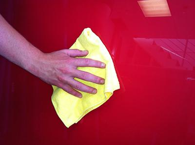 Cleaning Glass splashback