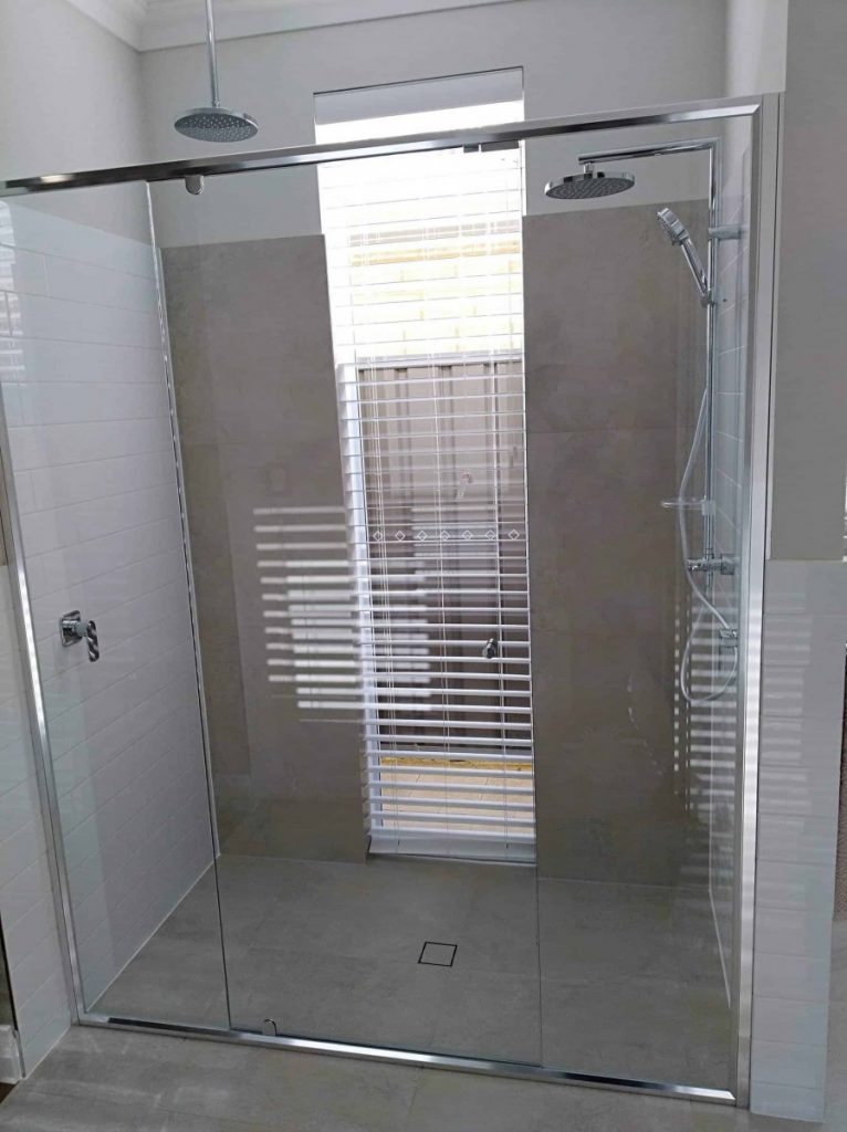 Full Chrome Frame Clear Shower Screen Enclosure 09