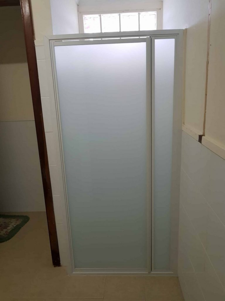Full White Frame Frosted Shower Screen Enclosure 10
