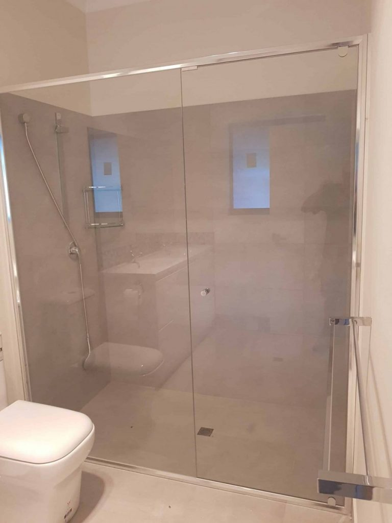 Semi Frameless Shower Screen Enclosure Clear 08