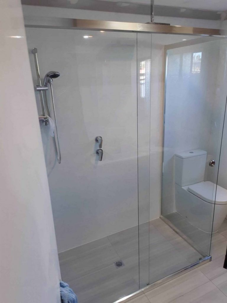 Semi Frameless Shower Screen Enclosure Clear 10